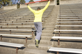16 km Stair Run using resistance.