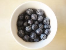 One cup blueberries.