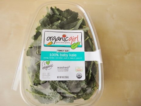 Three cups organicgirl® 100% baby kale.