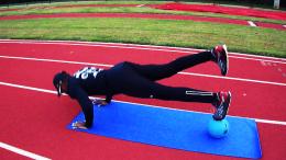 Performing push ups